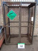 A 1360mm x 1000mm x 1920mm Lockable Gas 3-Sided Mesh Cage with Full Height Door (Excludes Padlock)
