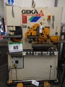A GEKA Hydracrop 55/A Iron Worker, Serial No. 18061, Angle Bar 90 Degree capacity 120mm x 120mm x