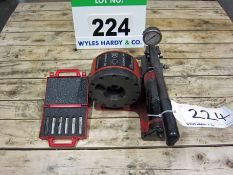 A BANNER Model Superlyt 320 Manual Hydraulic Crimper with Analogue Dial complete with Two Sets of