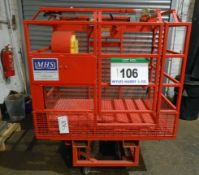 A B AND B ATTACHMENTS Model CM1 Man Riser Cage. 250Kg capacity, fitted Inter-locked Gates and AERO