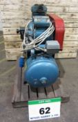 A MOTIVAIR Twin Cylinder Compressor mounted on Horizontal Welded Receiver, Serial No. 25144,