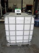 A SCHULTZ 1000-Litre IBC with Cage and Tap