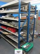 Two Bays of 2100mm x 600mm x 2000mm Heavy Duty Shelving comprising Four End Frames and Twenty Two