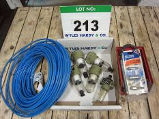 Five Air Line Water Traps (Unused), A Quantity of Plastic Air Line and Sundry Air Couplings and