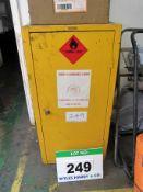 A 455mm x 455mm x 900mm COSHH/Flammable Single Door Storage Cupboard
