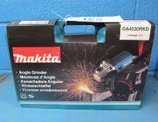 A MAKITA Model GA4530RKD 240v115mm Angle Grinder in Blow Moulded Case (Unused)