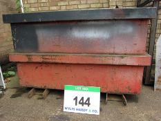 A 12090mm x 11080mm x 810mm Steel Scrap Bin fitted Fork Pockets (Excludes Contents) (Use Reserved