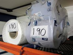 Five TORK Blue Workshop Paper Rolls and Part Roll of Oil Absorbant Wipes
