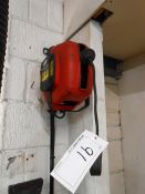 A DEMAC 240V Retractable Extension Lead with Twin Outlet (Method Statement Required before Removal -