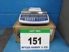 A T-SCALE Model QHC Digital Top Pan Ratio Scales with Box and Instructions