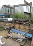 A Heavy Duty Steel Stock Stand, Overall 1460mm x 1350mm x 2480mm