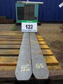 A Pair of CASCADE Rotator Forks Class 2, Size 100mm x 40mm, Fork Length 1200mm (Unused)