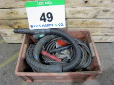 A Crate containing A Quantity of Welding Leads, Earth Clamps, Torches and WELDABILITY On Gun