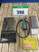 A LOBSTER Model AR-011-M Pneumatic Riveter with Hand Riveter, A Quantity of Rivets, Circlips,