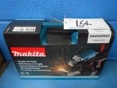 A MAKITA Model GA4530RKD 240v 115mm Angle Grinder in Blow Moulded Case (Unused)