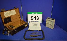 An ASSOCIATED ELECTRICAL INDUSTRIES LTD. Velometer in A Clad Wooden Carry Case complete with