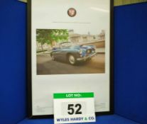 A Framed and Glazed Promotional Poster depicting 248 GMP, A Bristol 405 Drophead