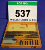 A COVENTRY TOOL AND GAUGE CO. Matrix Slip Gauge Accessory Kit in Wooden Case