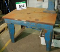 AN ALFRED HERBERT LTD. 48 inch x 36 inch Heavy Steel Surface Table for Refurbishment