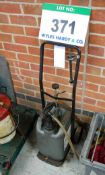 An Unbranded Oil Drum Trolley with Manual Pump and Dispensing Hose