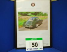 A Framed and Glazed Promotional Poster depicting WPC 868, A Green Bristol 404