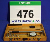 A MERCER 1.9-6.5 inch Dial Indicating Internal Bore Gauge in Wooden Case