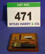 A JOHANSSEN Hand Held Bore Micrometre Gauge in Wooden Box