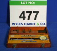 A MERCER Internal Dial Indicating Bore Gauge in Wooden Case (Incomplete)
