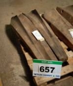 A Pair of Resin and Wood Body Panel Fabrication Bucks for Bristol 404/405/Speedster Rear Wing Tops