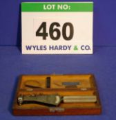 A C.E. JOHANSSEN 1 3/8 inch to 2 inch Bore Gauge in Wooden Case