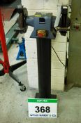 A CRUESEN Professional Pedestal mounted 9 inch Double Ended Grinder with Wire Brush fitted to One