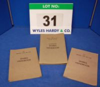 A Collection of Three Spares Handbooks for Bristol Type 406, Type 407 and Type 408 Mk II, 409 and