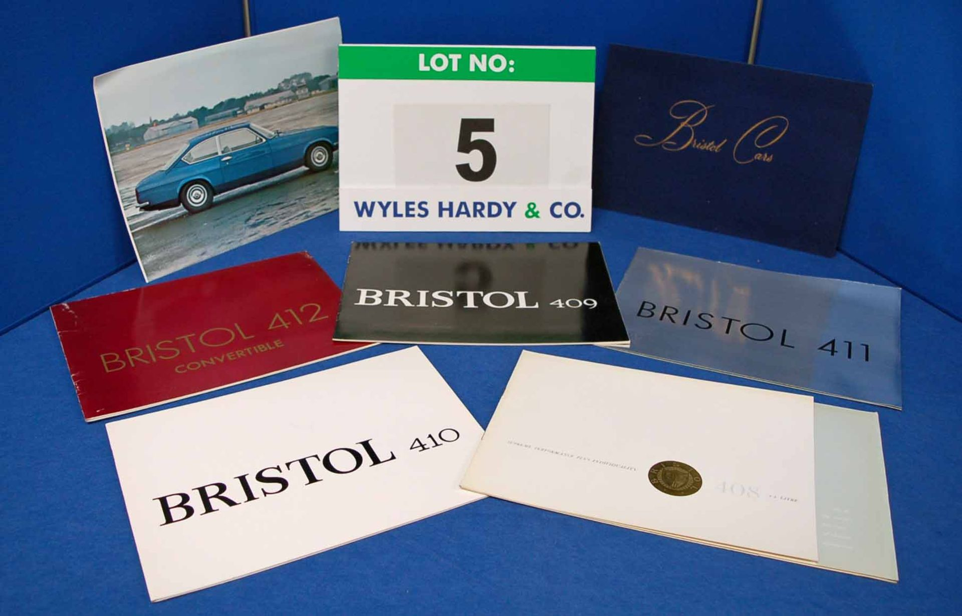 A Collection of BRISTOL Car Sales Brochures. One each for The Bristol 407, 408, 409, 410, 411, 412