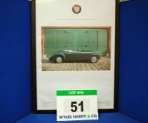 A Framed and Glazed Promotional Poster depicting WPC 868, A Green Bristol 401 Drophead