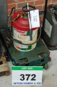 A Plastic Dolly mounted Grease Dispensing Pump Unit