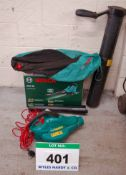 A Used BOSCH AL5 30 240V AC Hand Held Electric Corded Garden Vacuum with Blower Option and