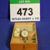 A MERCER Dial Gauge in Wooden Case