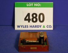 A MAKERS MECHANISM LTD. 0-10 Degrees Inclinable Micrometer Clinometer in Wooden Case