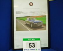 A Framed and Glazed Promotional Poster depicting 616 RTU, A Blue Bristol 411 Saloon