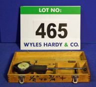A MERCER 1/2 inch-3/4 inch Internal Dial Indicating Bore Gauge in A Wooden Box (Incomplete)