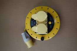 8 X Briticent SE1010 10M 110V 16AMP Extension Leads On Reels With Thermal Cut Out 1.25MM 3 Core