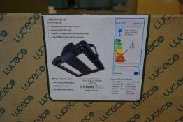 2 X Luceco LHBCX95120-01 LED 64W Cers Extra Highbay 140 Lumen 4000K Neutral White IP65 Black Finish
