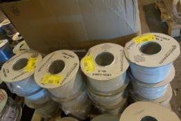 3 X Prysmain Afumex 2 X 1.5MM + 1.0MM E Cable 100M Drums Of Flat White 3 Core Cable