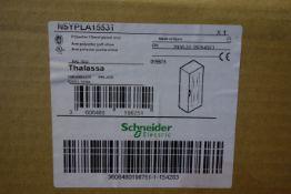 2 X Schneider NSYPLA1553T Polyester Floor Standing Enclosure With Glazed Doors 1500 X 500 X 320