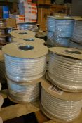 2 X Drums Of CPR 2.5MM Twin + Earth Cable 100M Per Drum White Flat