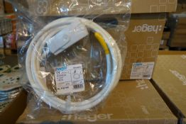 30 X Hager KLP/3/1W 16A Lighting Lead 3M 1.0MM 5 Core P.W White For Klik System