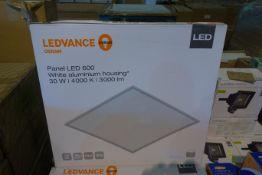 10 X Ledvance 600 X 600 LED Panels 30W 4000K 3000 Lumens White Aluminium Housing