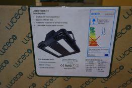 3 X Luceco LHBCX95120-01 LED 64W Cers Extra Highbay 140 Lumen 4000K Neutral White IP65 Black Finish