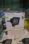 5 X Luceco LDFP30W-01 30W LED Floodlight 1800 Lumens With PIR Pre-Wired + 1M H05RN-F Cable Black