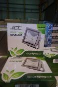 9 X JCC JC45101 15W LED Floodlights Silver Finish
